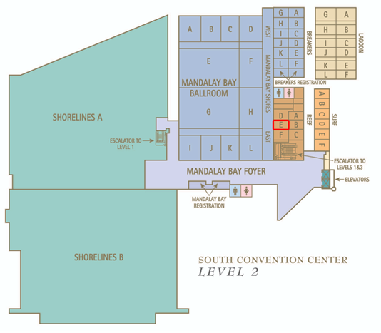 Mandalay Bay Convention Center Map AU 2010 Show Guide Goes Mobile | Autodesk University Mandalay Bay Convention Center Map