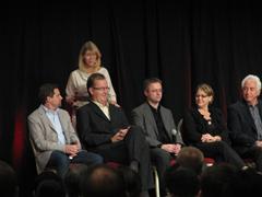 Jason Medal-Katz, Lynn Allen (standing), Joseph Wurcher, Richard Lane, Cheryl Romero, and Ray Eisenberg