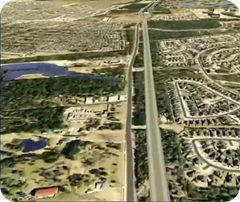 Highway corridor designed by CDM Smith using Autodesk Infraworks