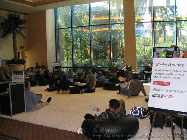 AU 2004 wireless lounge